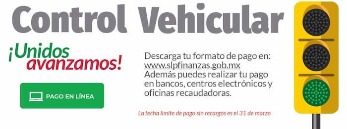 Pago de Control Vehicular San Luis Potosi