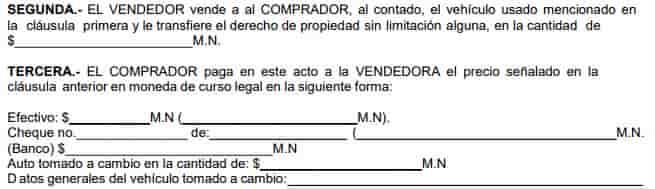 3 parte contrato compraventa de vehiculos entre particulares