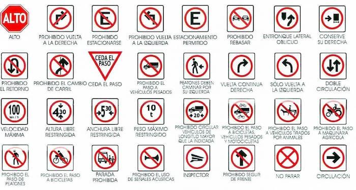 Señales de transito restrictivas
